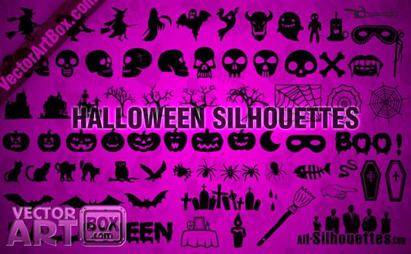 Halloween Silhouettes Vector Shapes for Photoshop