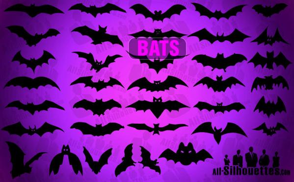 Vector Bats Photoshop Shapes for Halloween