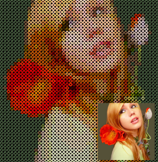 Hama Beads Photo Portrait Pattern