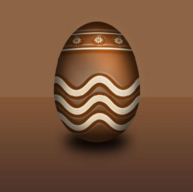 Create a Chocolate Easter Egg Photoshop Tut