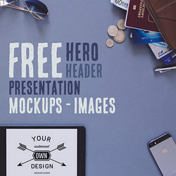 Headers and Hero Images PSD Mockups for Designers psd-dude.com Resources