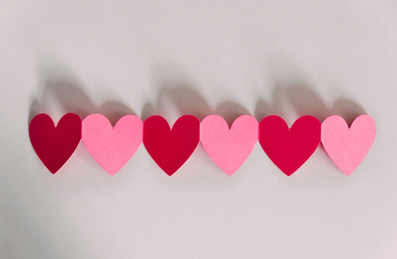 Cute Hearts Wallpaper