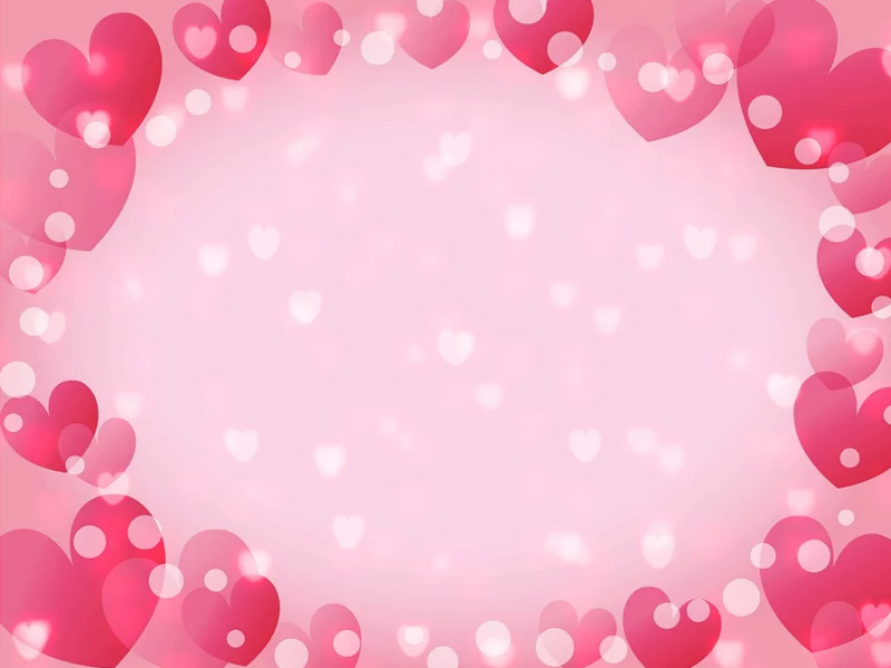 Pink Heart Background Wallpaper