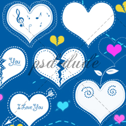 <span class='searchHighlight'>Heart</span> Doodle Brushes psd-dude.com Resources