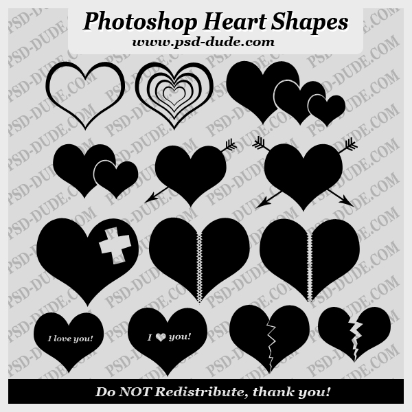 Heart Shape Photoshop