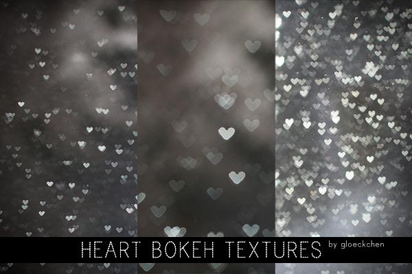 Heart Bokeh Textures by gloeckchen photoshop resource collected by