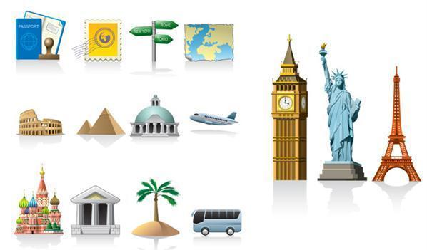 15 Travel Icon Set