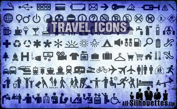 Travel Icons Vector Photoshop CSH File