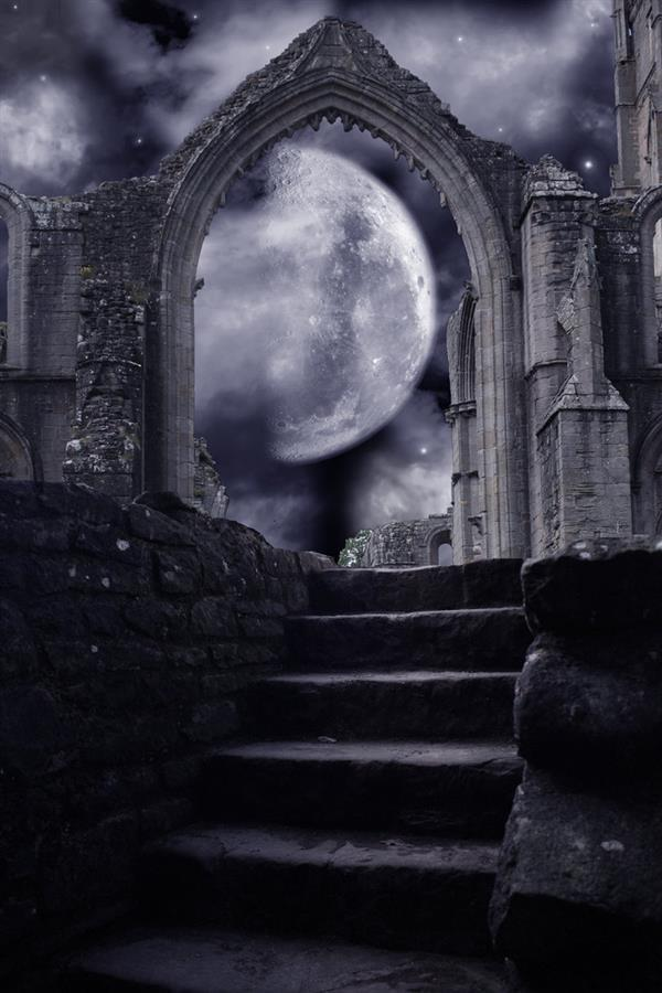 Castle Ruins Photo Manipulation Stock