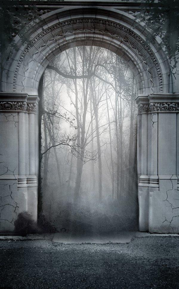 Creepy Gothic Premade Background Stock