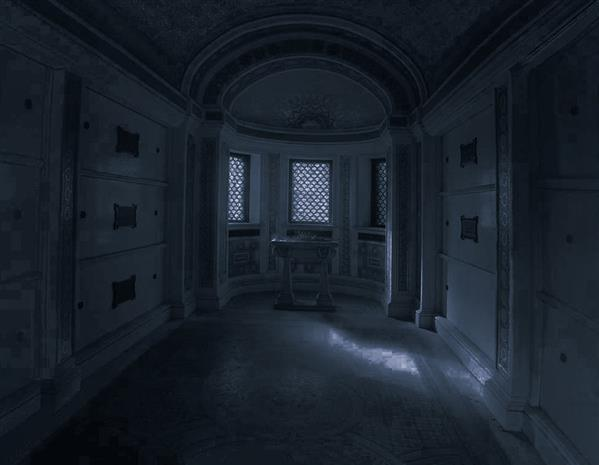 Dark Ghost Room Premade Background