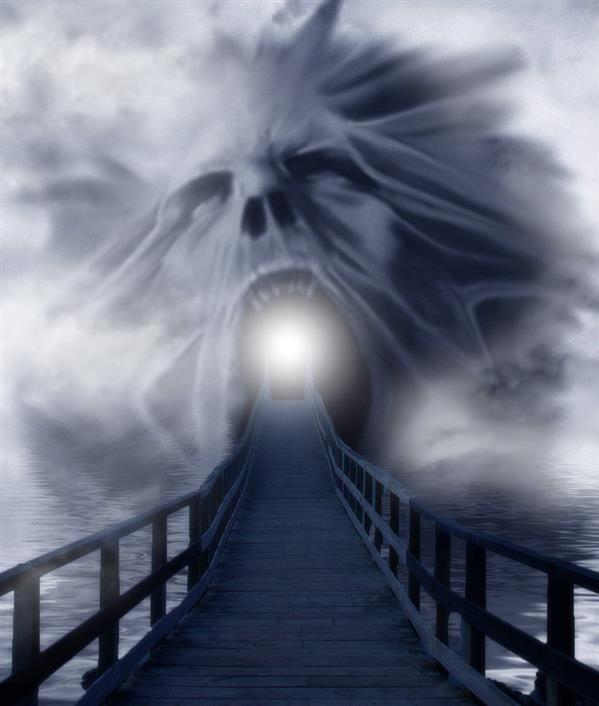 Ghost Bridge Horror Premade Background