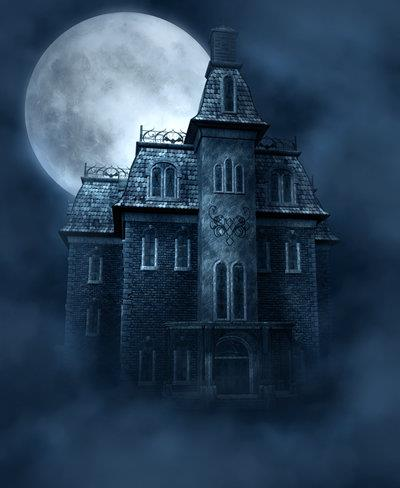 Haunted House free background by moonchild-ljilja photoshop resource collected by psd-dude.com from deviantart