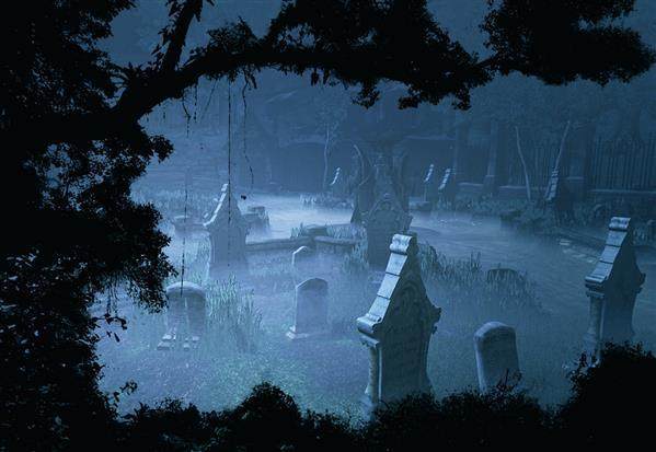 Premade Background Graveyard