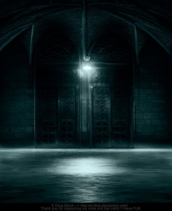 Premade Background Stock Gothic Scene