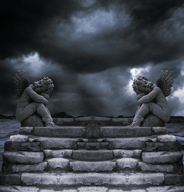 Premade Background Two Angels