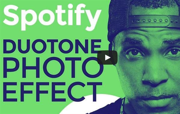 Spotify Duotone Photoshop Tutorial and Free Action