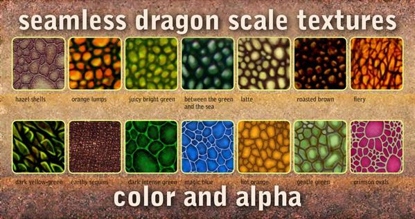 seamless dragon scale textures by Marqoni photoshop resource collected by psd-dude.com from deviantart