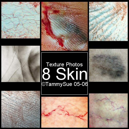 Wound Scars Flesh Skin Textures by TammySue photoshop resource collected by psd-dude.com from deviantart