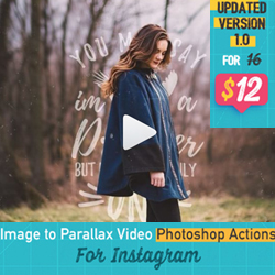 Qlilipn Image to Parallax Video Photoshop Actions psd-dude.com Resources