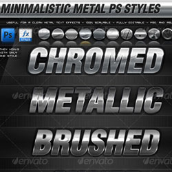 Metal Chrome Photoshop Styles psd-dude.com Resources