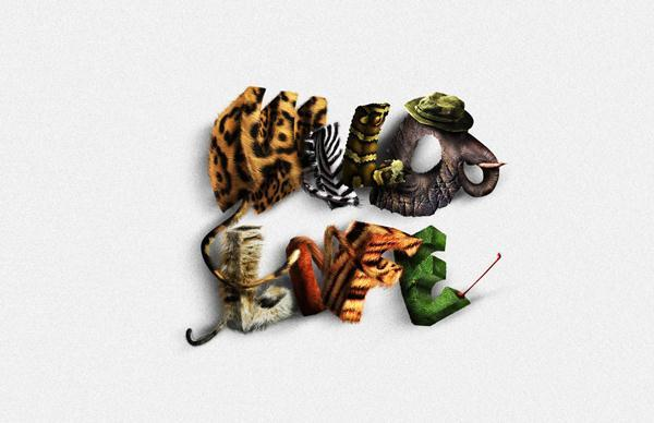 Animal Fur Texture Typography Photoshop Tutorial