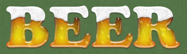 Beer text effect Photoshop tutorial