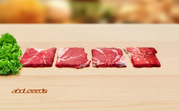 Raw Meat Typography Photoshop Tutorial