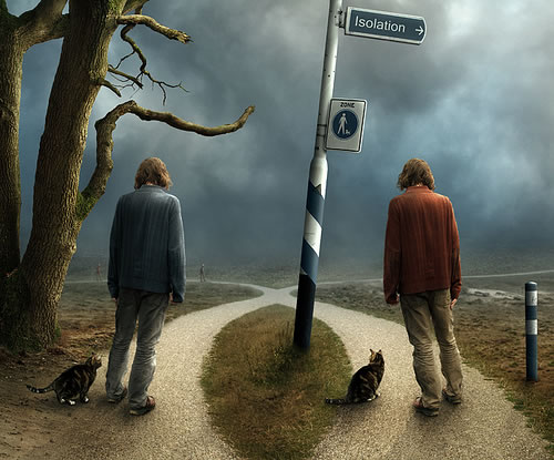 Photoshop photo manipulation by Mattijn Fransen - autumn crossing