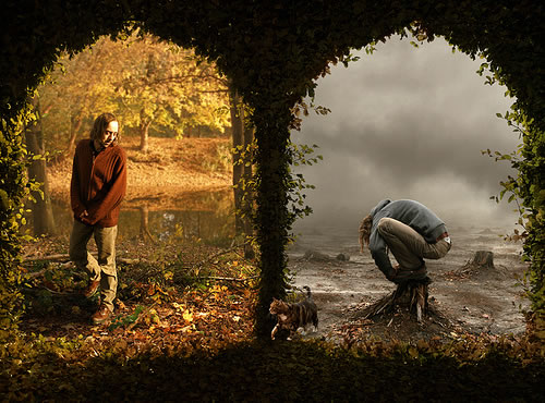 Photoshop photo manipulation by Mattijn Fransen - like before
