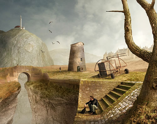 Photoshop photo manipulation by Mattijn Fransen - some quiet time