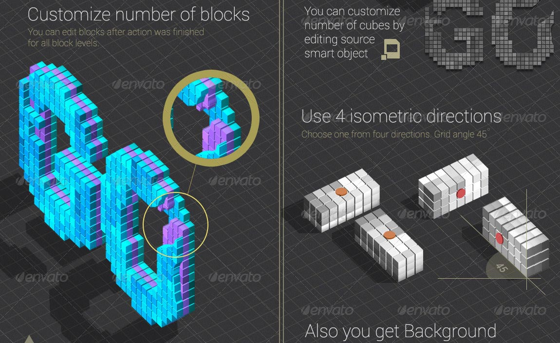 Isometric Blocks Text Creator