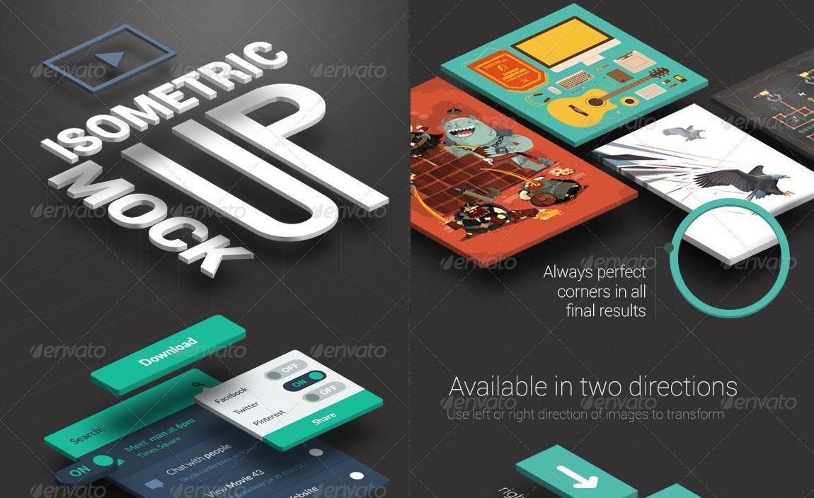 Isometric Template Photoshop Action