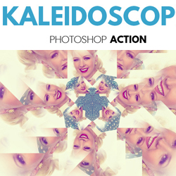 Kaleidoscope Photoshop Action psd-dude.com Resources