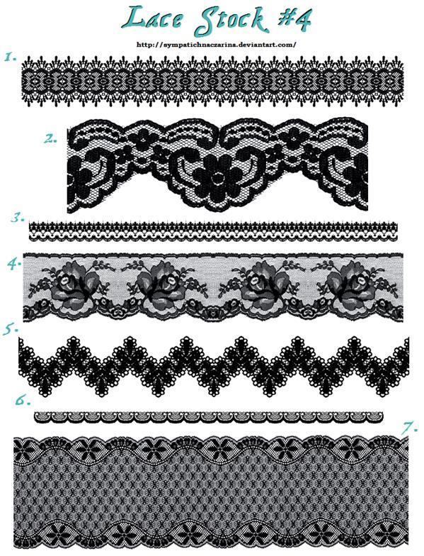 Black Lace Trimmings Stock Images