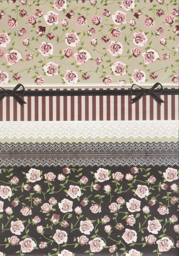 Lace and Roses Fabric Textures