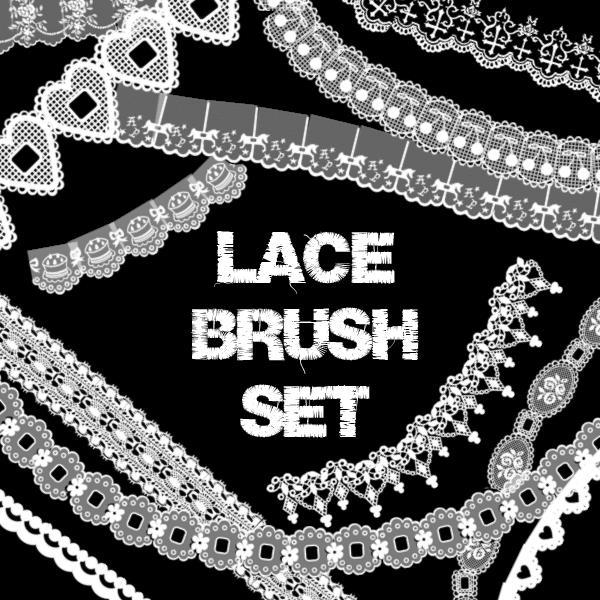 Lace Embroidery PS Brush Set