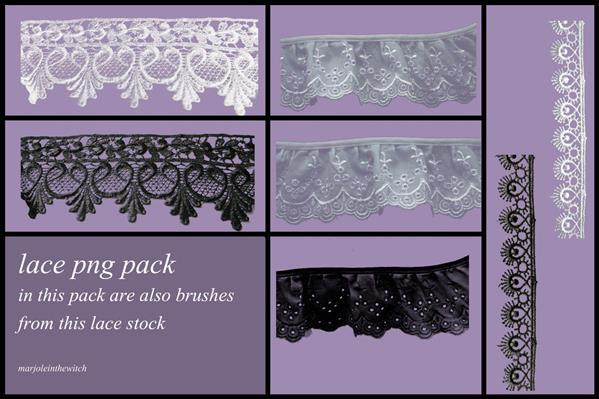 Lace png and lace brushes