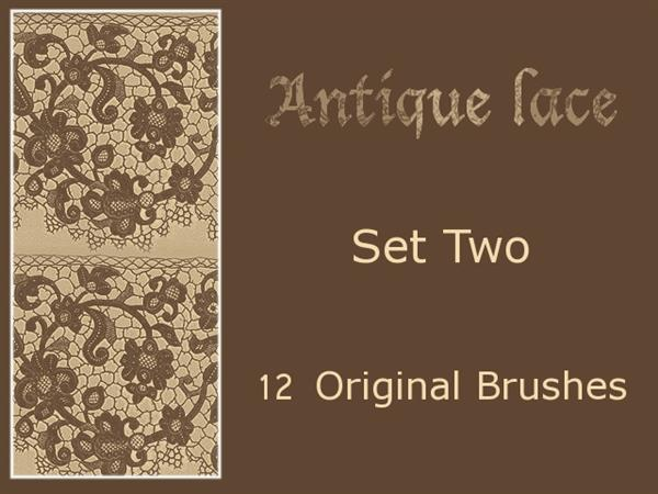 Vintage Lace Brushes Pack