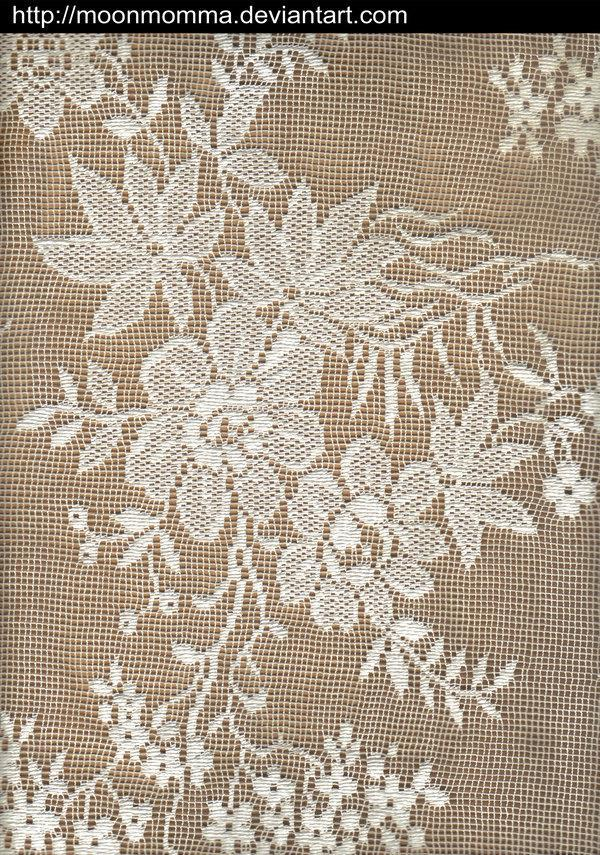 White Flower Lace Doily Texture