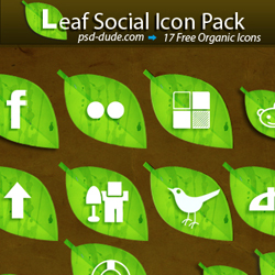 Free Leaf <span class='searchHighlight'>Social</span> <span class='searchHighlight'>Icon</span> Pack psd-dude.com Resources