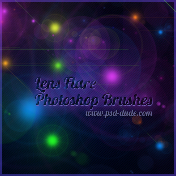 Lens Flare Photoshop Brushes