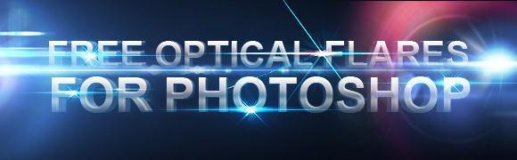 7 Optical flares Photoshop Texture Pack