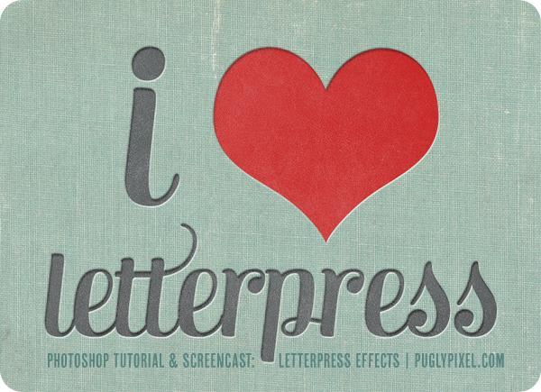 Letterpress Photoshop Tutorials PSDDude