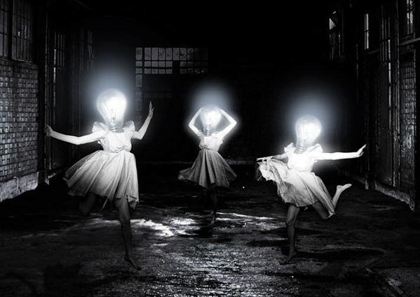 Light Bulb Dance Surreal Photo Manipulation