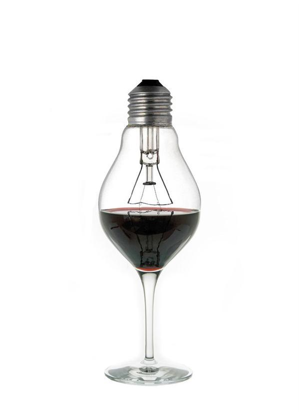 Wine Glass Light Bulb Photo Manipulation