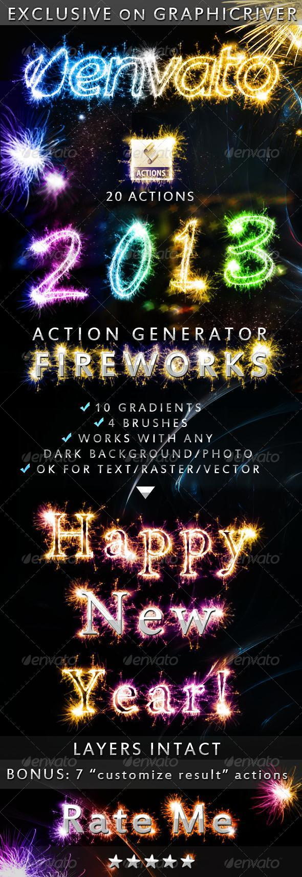 Fireworks Lights Photoshop Styles