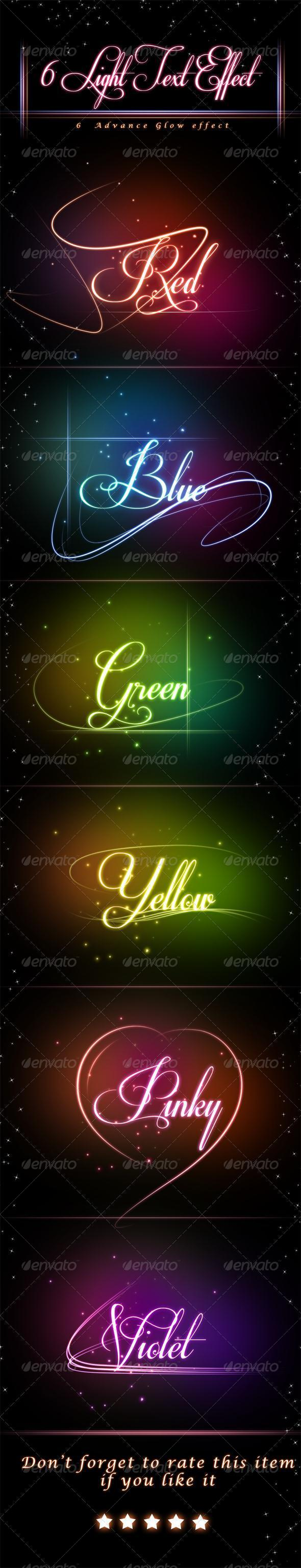 Glowing Light Photoshop Text Styles