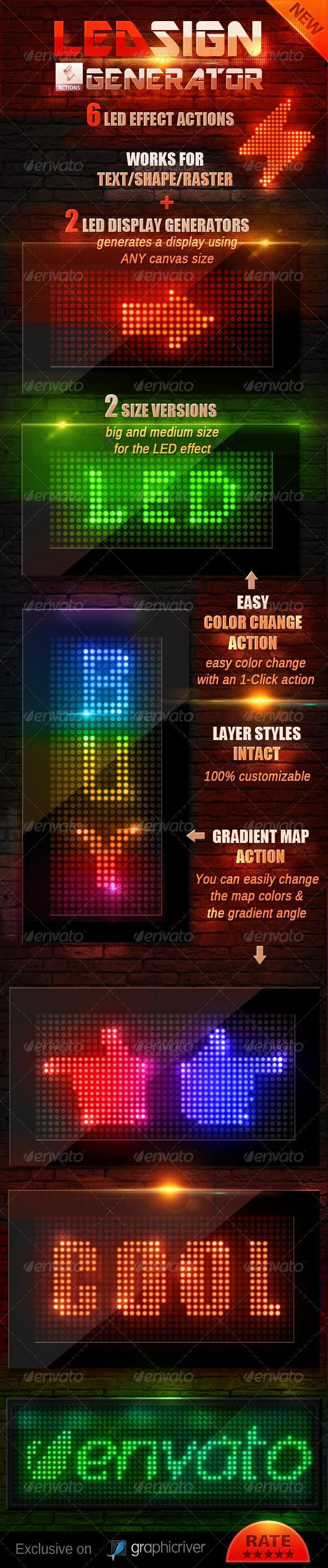 Led Light Photoshop Text and Shape Generator