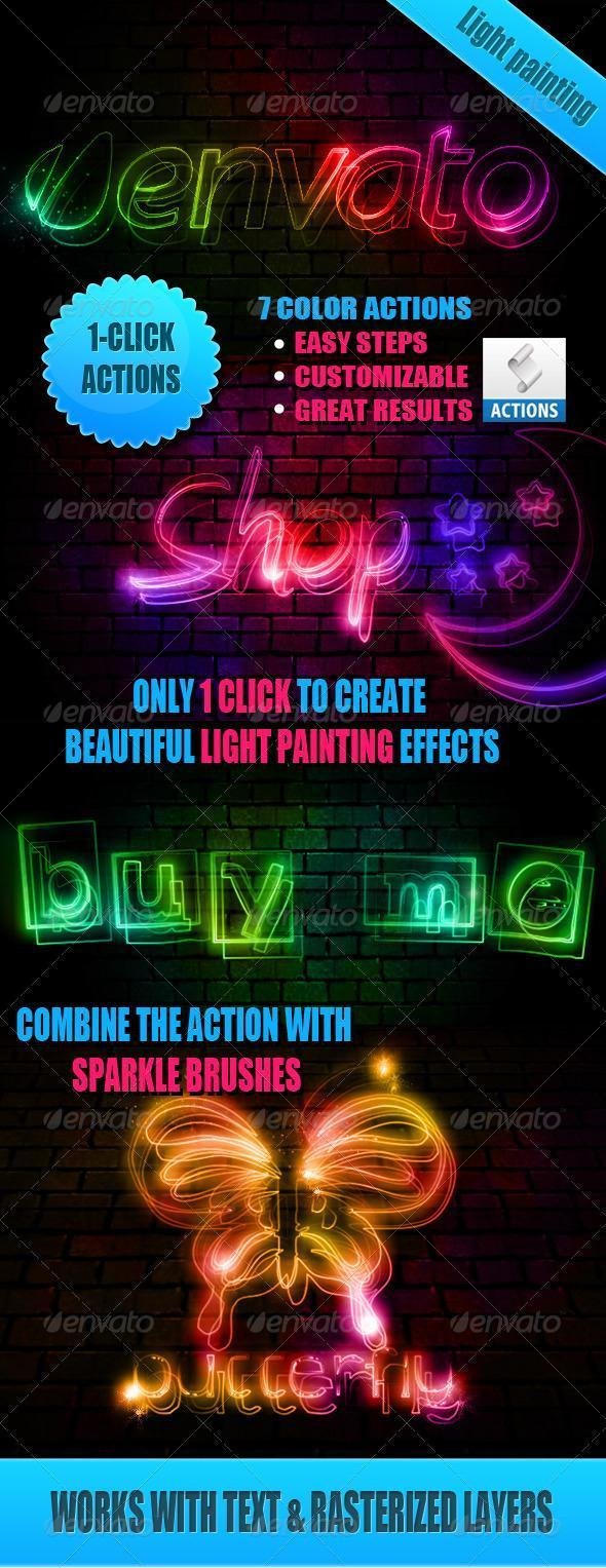 Light Painting Photoshop Effect
